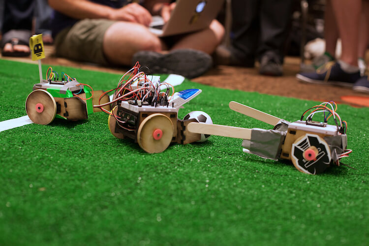 NodeBots playing soccer