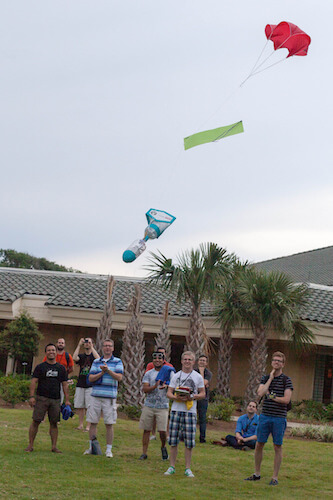 NodeRocket landing with parachute
